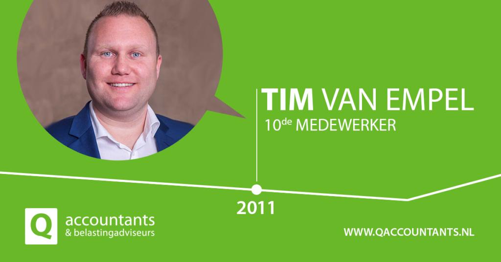 Terugblik: Tim van Empel 10e medewerker in 2011